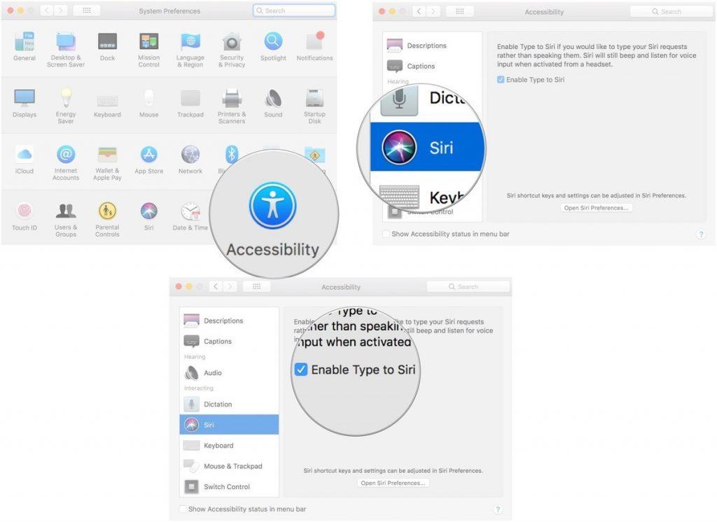 Preferenze Siri su MacOS 1