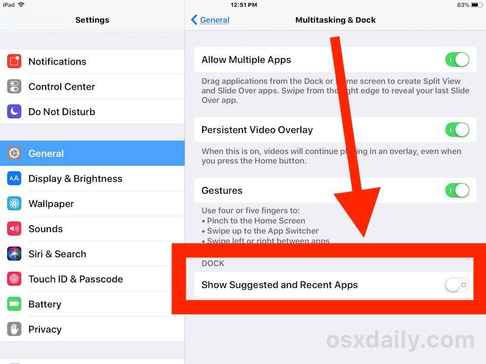 nascondere le app suggerite impostazioni