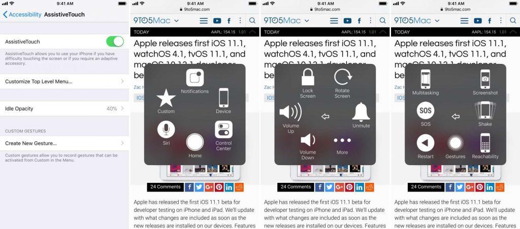 spegnere l'iPhone senza usare il tasto 3