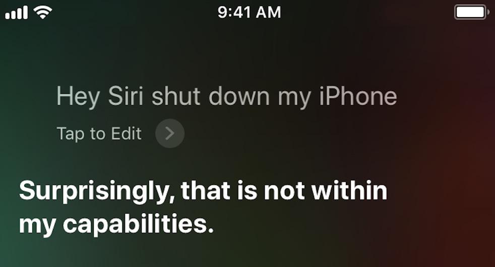 spegnere l'iPhone senza usare il tasto Siri
