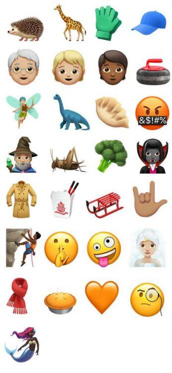 Emoji in iOS 11.1 nuove