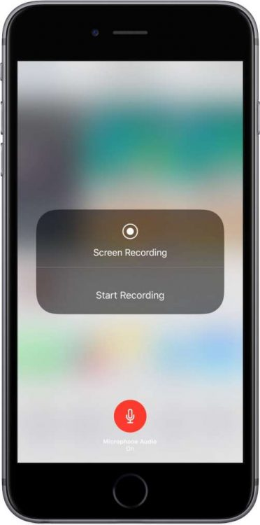 registrare lo schermo con iOS 11 iPhone