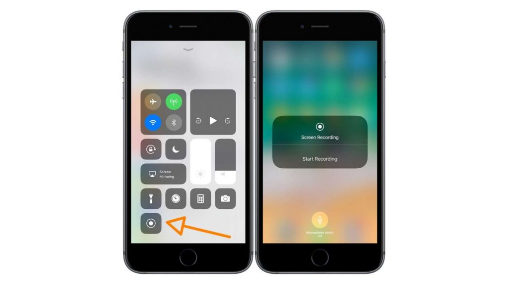 registrare lo schermo con iOS 11 Control Center