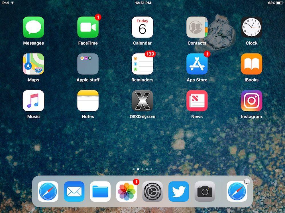 nascondere le app suggerite iPad