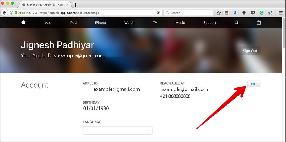 mail dell'Apple ID modifica