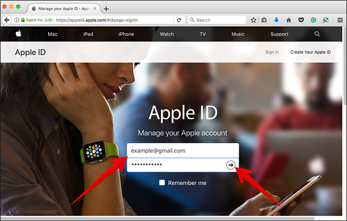 mail dell'Apple ID sito web