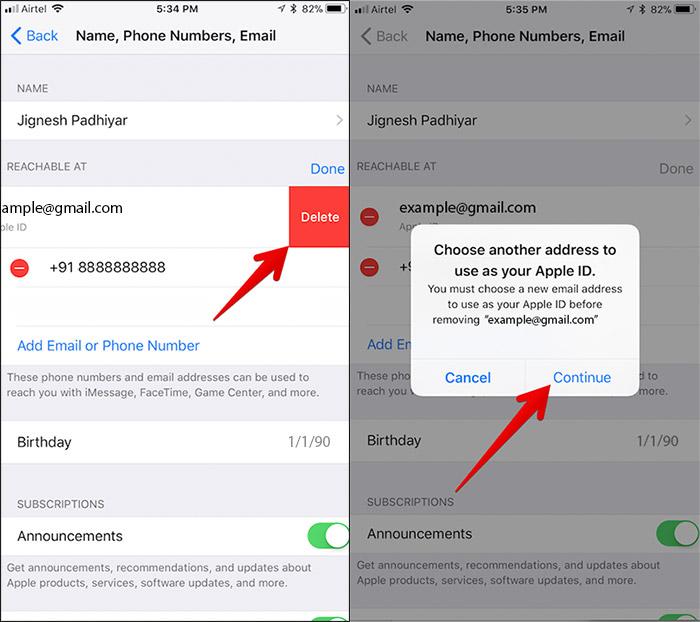 cambiare la mail dell'Apple ID 4