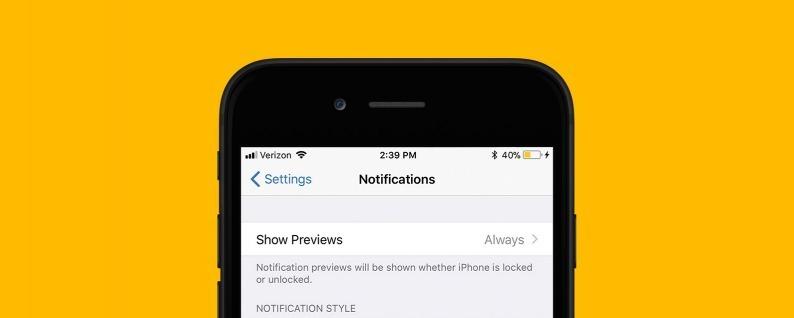 Come disabilitare l'anteprima delle notifiche in iOS 12