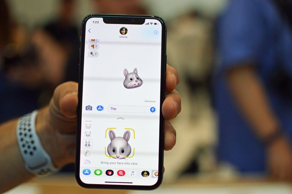 Animoji prova iMessage