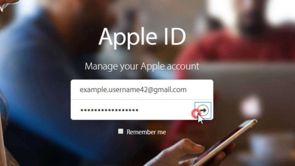 mail dell' Apple ID sito