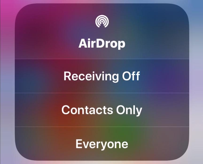 Airdrop control center