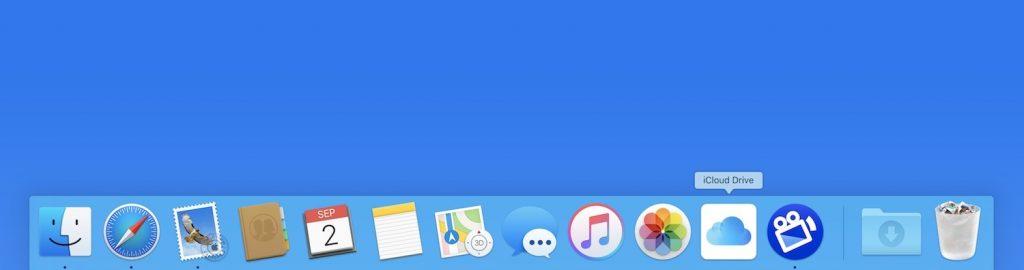 iCloud Drive nel dock Mac
