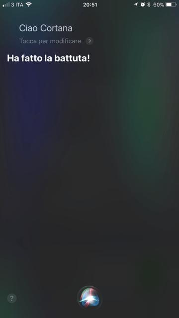 cambiare la voce a Siri