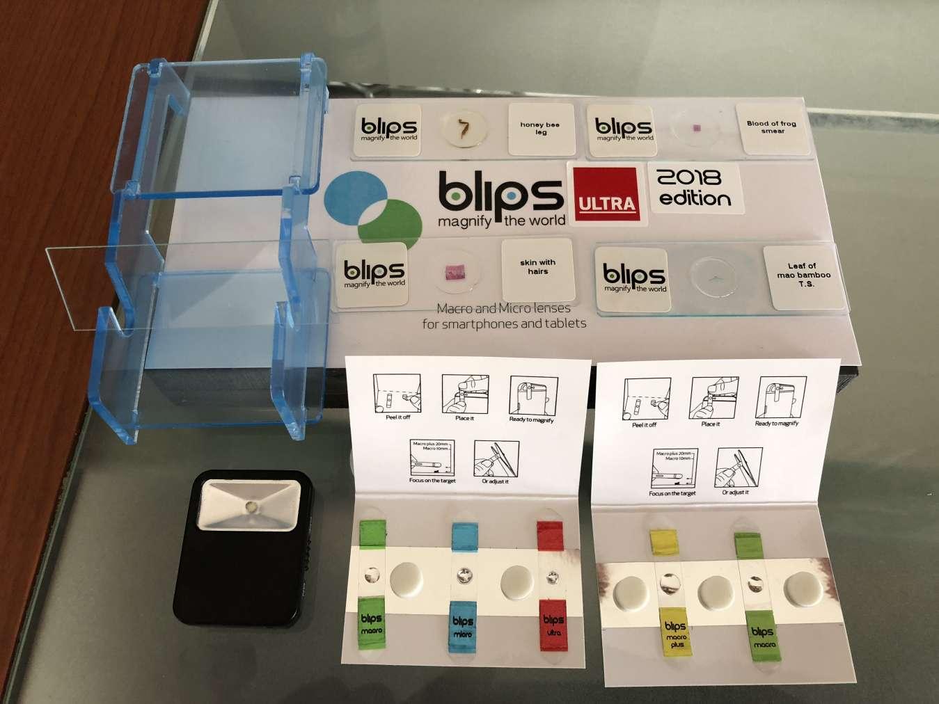 Tutti i Componenti del kit delle lenti Blips