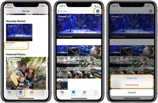 Condividere foto con link temporanei di iCloud 4
