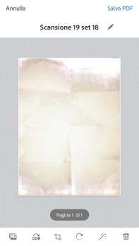 AdobeScan foglio bianco