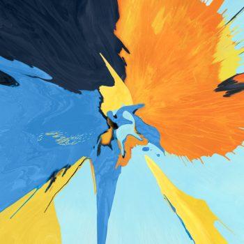 8 sfondi astratti per il nuovo iPad Pro: orane and blue