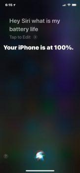 Chiedere a Siri la batteria 2