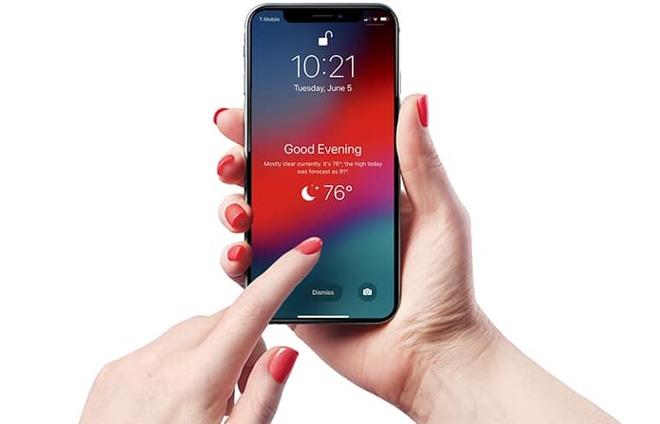 meteo iOS 12 lock screen