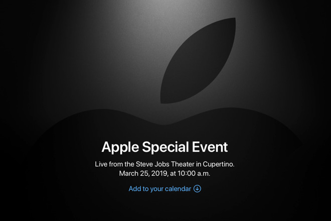EVENTO APPLE DEL 25 MARZO