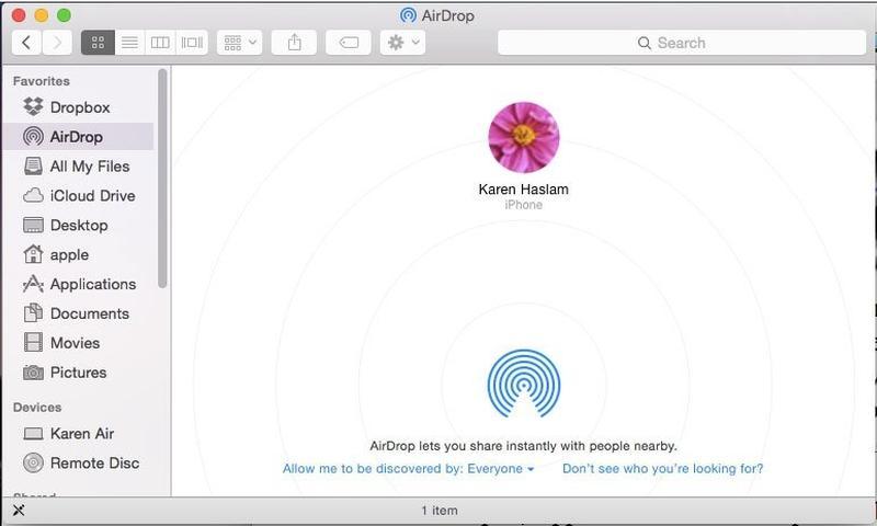Trasferire foto da IOS a MAC: Airdrop