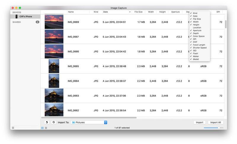Trasferire foto da IOS a MAC: acquisizione immagine