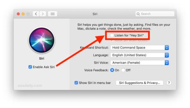 ascoltami Ehi Siri su Mac