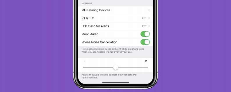 abilitare audio mono negli AirPods