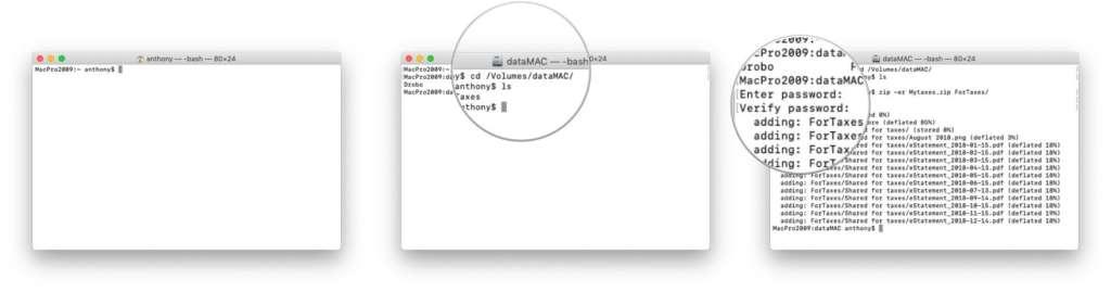 Come aggiungere una password a un file zip su Mac 2