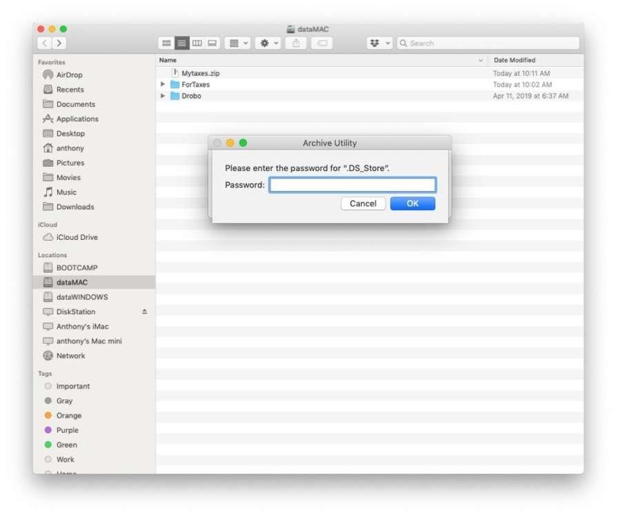 Come aggiungere una password a un file zip su Mac 3