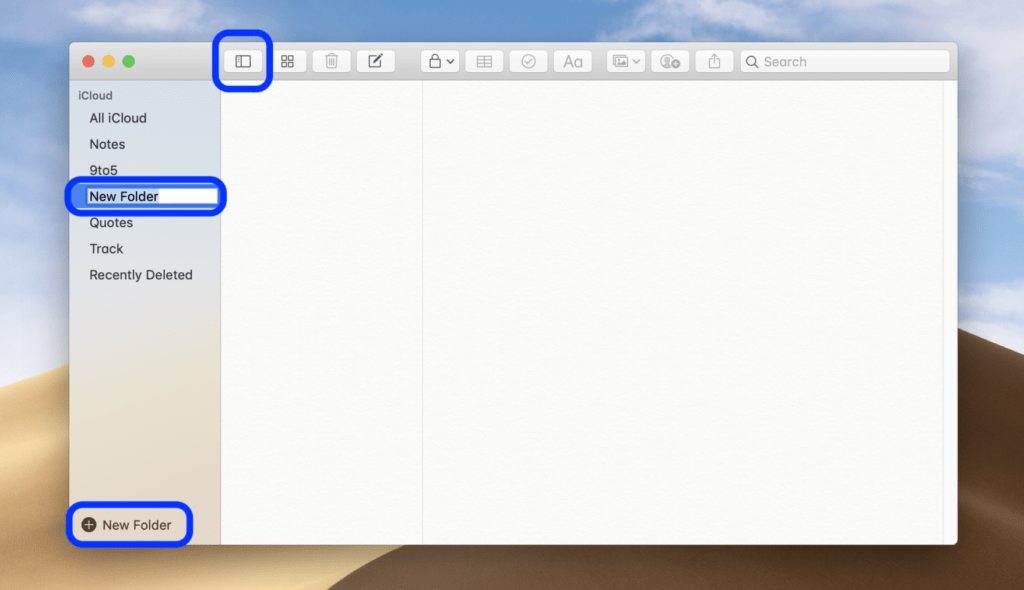 Come creare cartelle in Note MacOS