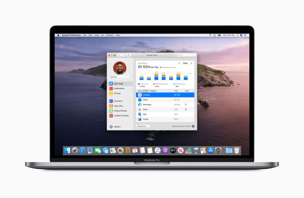 Le novità di MacOS 10.15 screentime