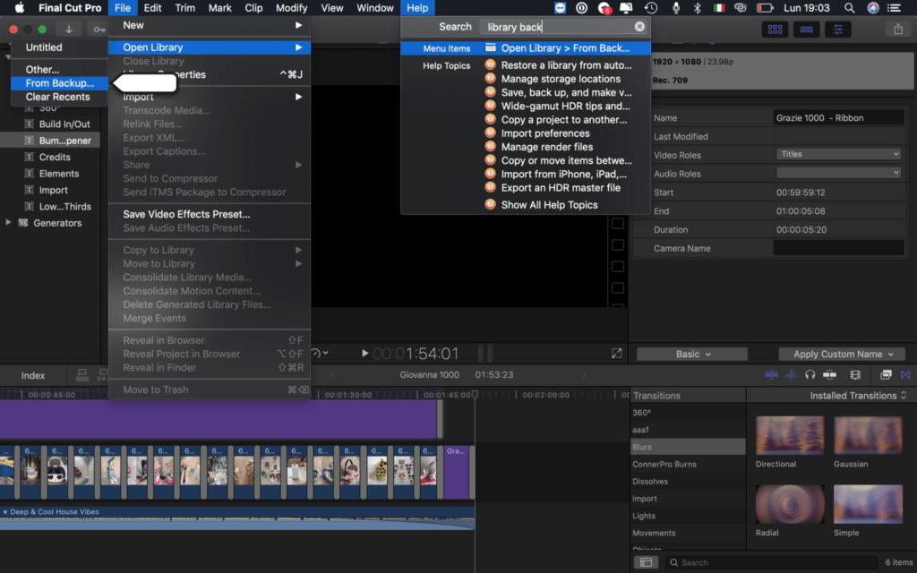 installare applicazioni del mac su HD FCP