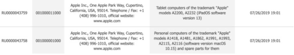 Due nuovi modelli di iPad sono stati depositati alla CEE.