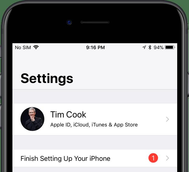 rimuovere le notifiche dalle impostazioni su ios Tim Cook