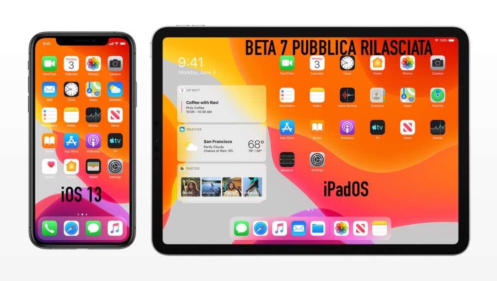 Apple rilascia la beta 7 pubblica di iOS 13 ed iPadOS