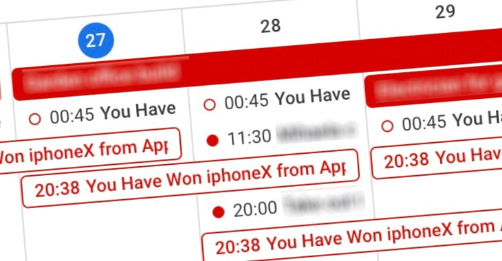rimuovere lo spam dal calendario su ios