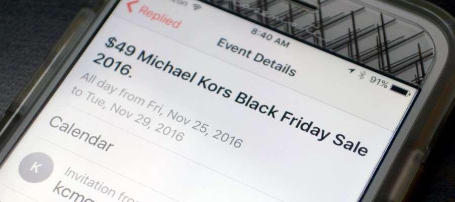 rimuovere lo spam dal calendario su ios
