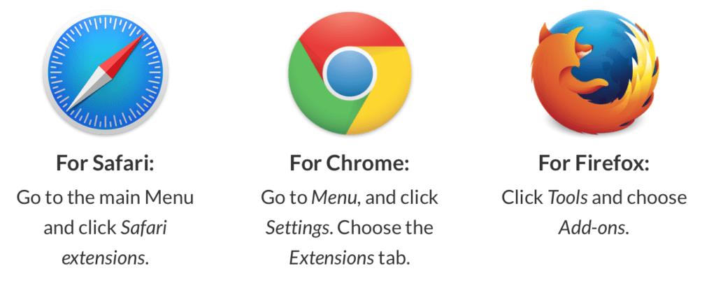 """Rimuovere la voce """"altro"""" su mac: Safari, Chrome e Firefox plugin"""