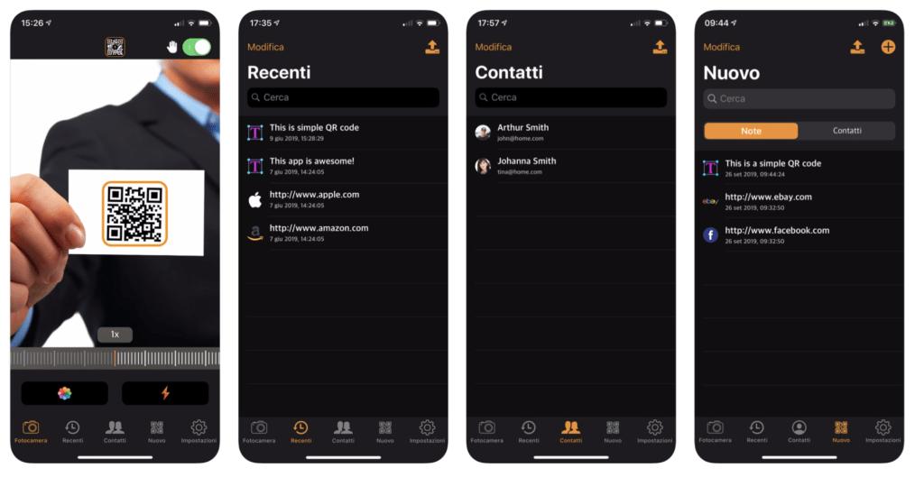 come creare un QRcode con iOS anteprima