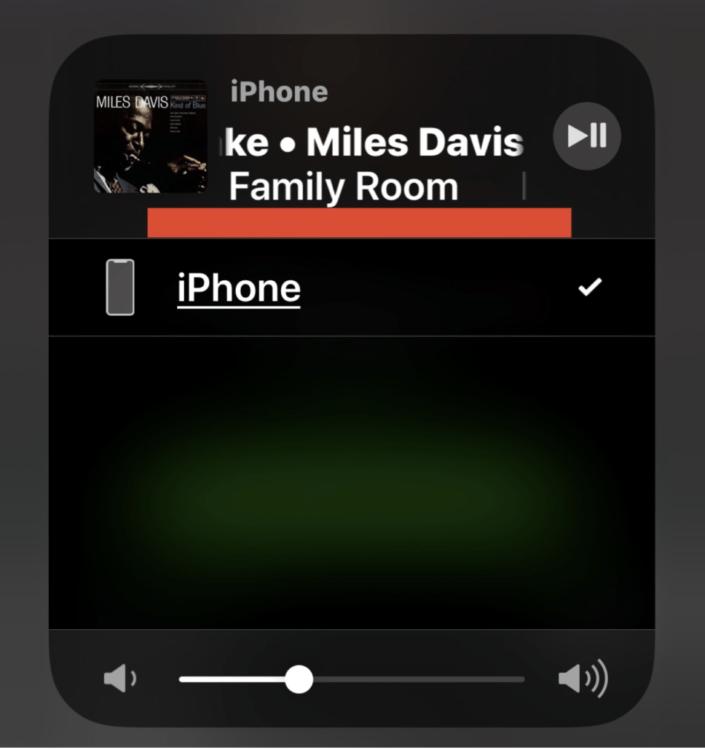 AirPlaying audio da iPhone a Sonos nonostante la sorgente audio Airplay non venga visualizzata nel Control Center.