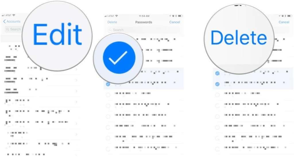 trovare le password su iPhone elimina
