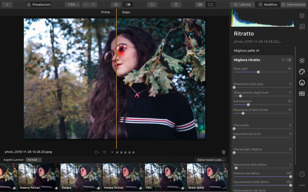Luminar 4 portrait mode