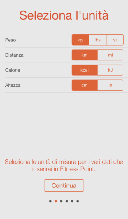 Fitness Point Pro sincronizza i dati che inserite con l'app salute.