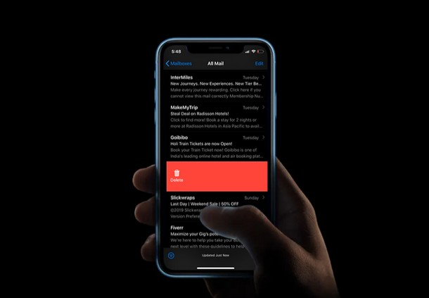recuperare le e-mail rimosse da iPhone