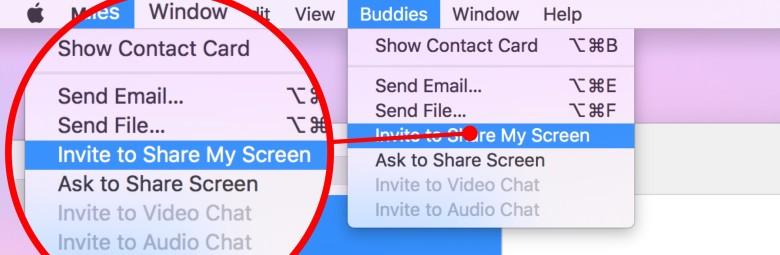 Condividere lo schermo del Mac con iMessage