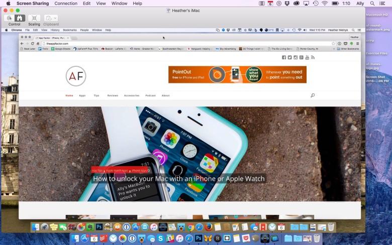 Condividere lo schermo del Mac con iMessage 3
