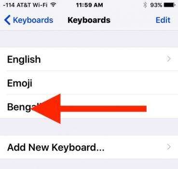 Cambiare lingua tastiera su iPhone 1