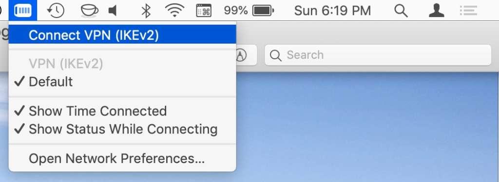 Disconnettere VPN su Mac
