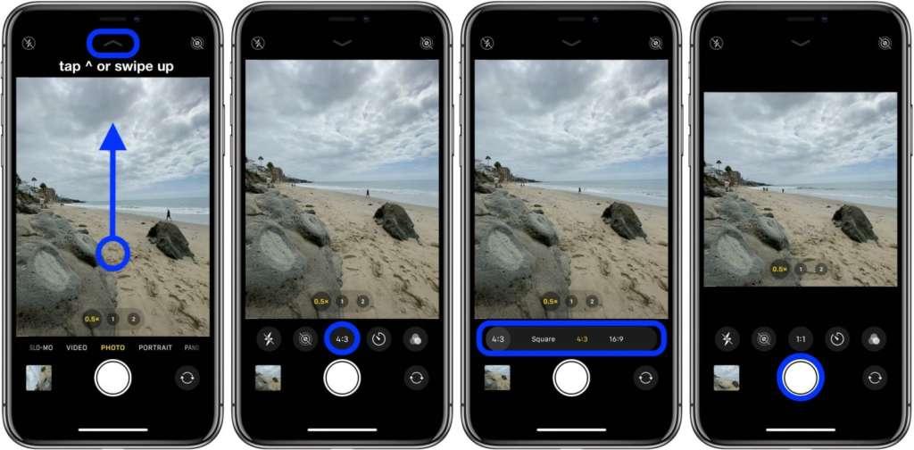scattare foto quadrate con iPhone 1